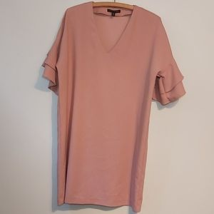 Banana republic pink tunic dress with flowy sleeve